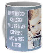 Espresso And Kitten Sign Coffee Mug