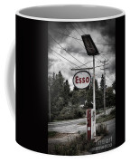 Esso Sign And Pump Coffee Mug