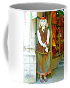 Estonian Greeter In Old Town Tallinn-estonia Coffee Mug