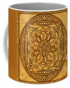 Eternity Mandala Leather Coffee Mug