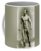 Eugen Sandow In Classical Ancient Greco Roman Pose Coffee Mug by American Photographer