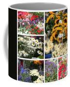 European Flower Market Collage Coffee Mug