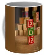 Eve - Alphabet Blocks Coffee Mug