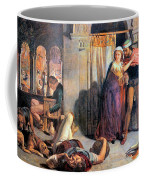 Eve Of Saint Agnes The Flight Of Madelein The Drunkenness Attending The Revelry Coffee Mug