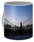 Even The Clouds Aligned With St Paul's Cathedral And The Millennium Bridge - London Coffee Mug
