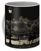 Evening Bench Warmers Coffee Mug
