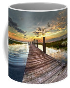 Evening Dock Coffee Mug by Debra and Dave Vanderlaan