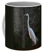 Evening Egret 2 Vertical Coffee Mug