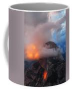 Evening Glow On Half Dome In Yosemite Coffee Mug