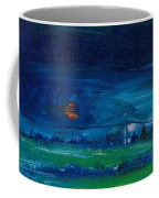 Evening Landscape Oil On Canvas Coffee Mug