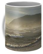 Evening Mist Over Ecola State Park Coffee Mug