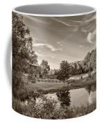 Evening Pond Sepia Coffee Mug