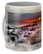 Evening Stroll At The Beach -featured In 'cards For All Occasions'comfortable Art'  'digital Veil Coffee Mug