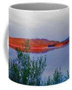Evening Sun Glow On Calm Twin Lakes Yukon Canada Coffee Mug