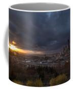 Evening Sunlit Seattle Skyline Coffee Mug