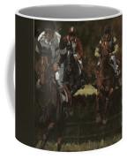 Eventing Horses Over Jump Coffee Mug