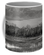 Everglades Panorama Bw Coffee Mug