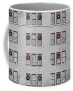 Evergreen Christmas Wreaths Abstract Coffee Mug