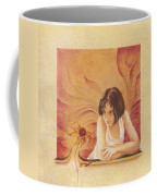 Everyday Angel With Flower Coffee Mug