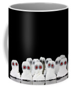 Evil White Ghosts In A Crowd With Black Space Coffee Mug