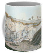 Excavations Of A Thick Stratum Of Lava Coffee Mug by Pietro Fabris