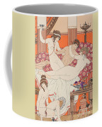 Excess Of Wine And Women Coffee Mug by Joseph Kuhn-Regnier