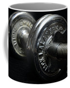 Exercise  Vintage Chrome Weights Coffee Mug