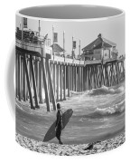 Existential Surfing At Huntington Beach Coffee Mug