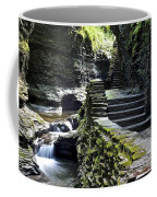 Exiting Watkins Glen Gorge Coffee Mug by Frozen in Time Fine Art Photography