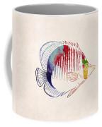 Exotic Tropical Fish Drawing Coffee Mug