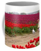 Exploring The Tulip Fields Coffee Mug