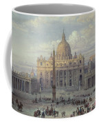 Exterior Of St Peters In Rome From The Piazza Coffee Mug