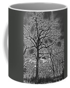 Extreme Contrast Bare Trees During Winter Photograph Coffee Mug
