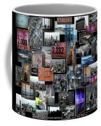 Eyes Down From The 103rd Floor Collage Coffee Mug