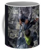 Eyes Down From The 103rd Floor Little Dude With No Fear Coffee Mug