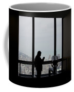 Eyes Down From The 103rd Floor Texting From The Top Of The World Coffee Mug
