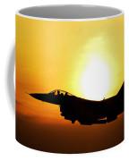 F-16 Fighting Falcon Flying Over Korea Coffee Mug