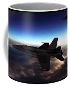 F-18 Super Hornets On Patrol Coffee Mug