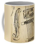 F Hole Line Drawing Coffee Mug