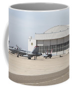 Fa-18 Hornets On The Flight Line Coffee Mug