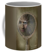 Face In Broken Mirror Coffee Mug
