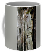 Face In The Forest Coffee Mug