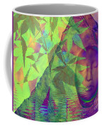 Face In The Rock With Maple Leaves Coffee Mug