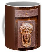 Face On The Door - Rectangular Crop Coffee Mug
