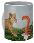 Face To Face Were A Lion And Snake Coffee Mug
