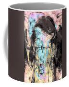 Faceless Girl With Her Crow Coffee Mug
