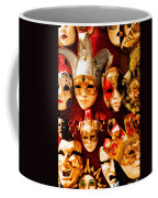 Faces Of Carnavale Coffee Mug