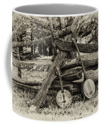 Faded Country Time Banjos Coffee Mug