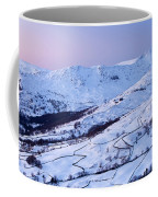 Fairfield Covered In Snow At Sunset Coffee Mug