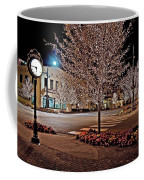Fairhope Ave With Clock Night Image Coffee Mug